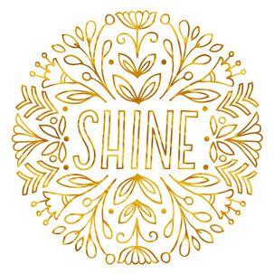 Shine Blank Card