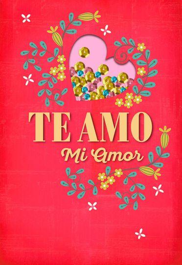 te amo mi amor spanish language love card