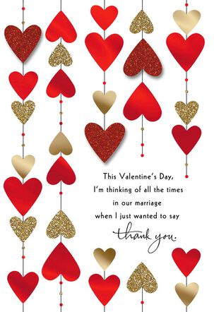 Hearts on Strings Valentine's Day Card for Husband