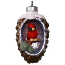 A World Within Pinecone With Cardinal Mini Ornament, , large