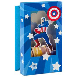 Captain America Musical Father's Day Card With Light, , large