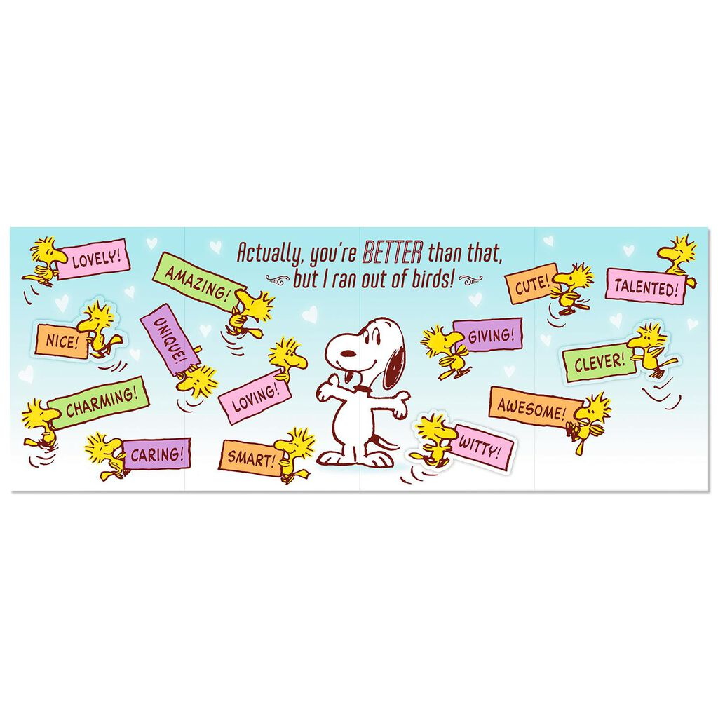 PeanutsR Snoopy And Woodstock Sweet Daughter Funny Birthday Card