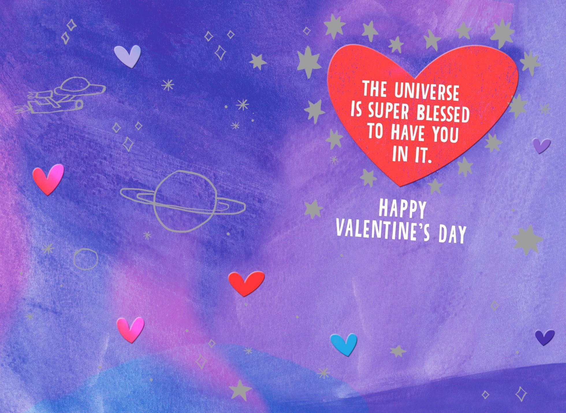 Astronaut Cat Valentineu0027s Day Card For Godson,