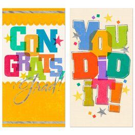 Congrats, Grad! Money Holder Card, Pack of 6, , large