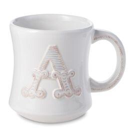 Initial Monogram Ceramic Mug, 12 oz., , large