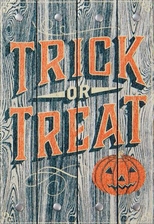Trick-or-Treat Jack-o'-Lantern Halloween Card