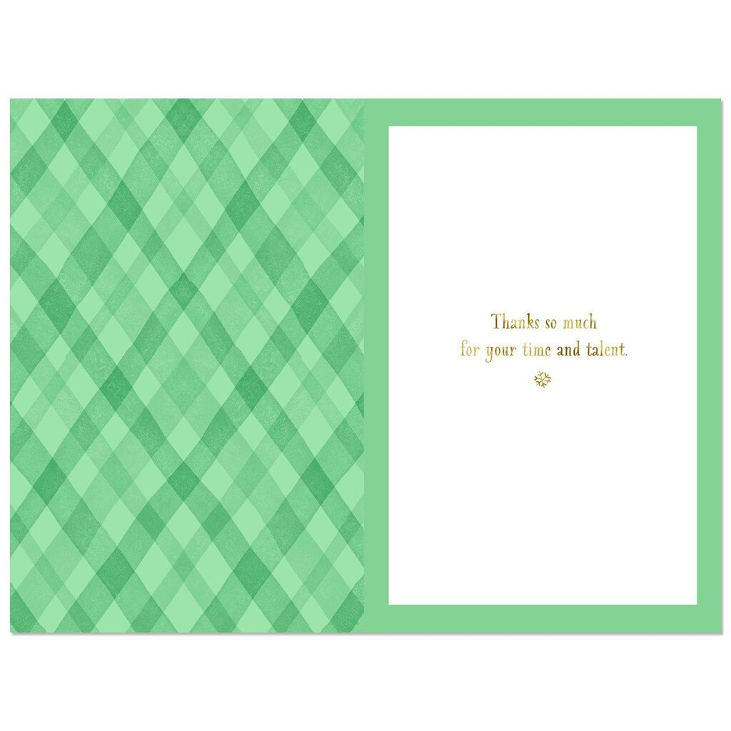 You Have a Gift Thank You Christmas Card for Hair Stylist - Greeting ...