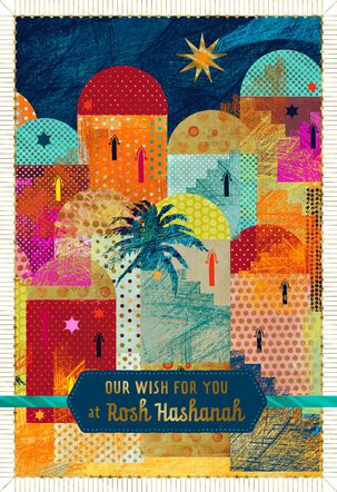 Religious Village Rosh Hashanah Card From Both