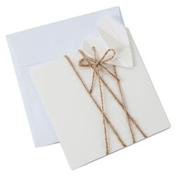heart and twine note card pack of 8 floral garden thank you