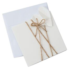 Heart and Twine Note Card, Pack of 8, , large