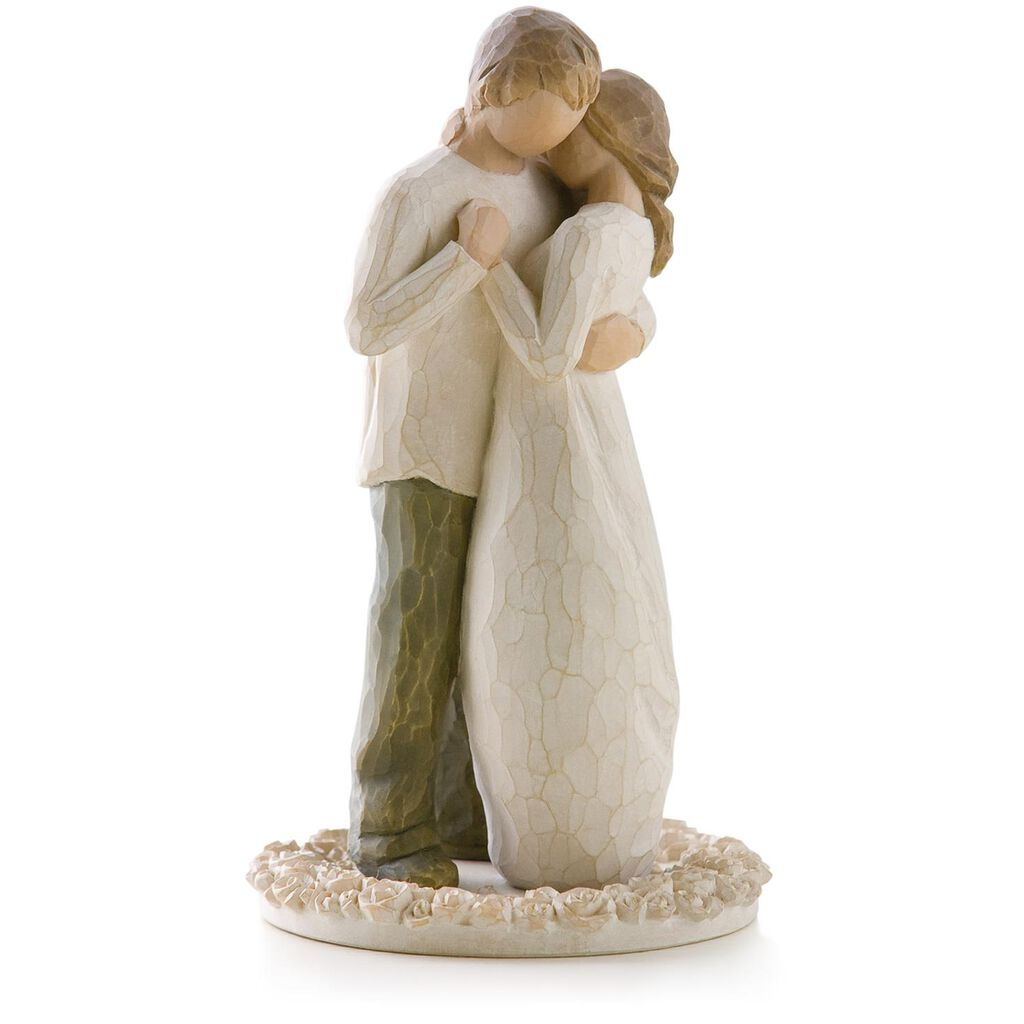 Willow Tree® Promise Wedding Engagement Love Figurine & Wedding Cake ...