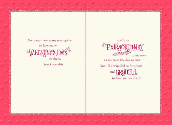 Lucky to Have You Banner Valentines Day Card for Wife Greeting – Valentine Day Cards for Wife