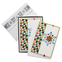Bright Snowflake Christmas Cards, Box of 16, , large