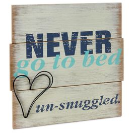 Un-snuggled Rustic Wood Sign, , large
