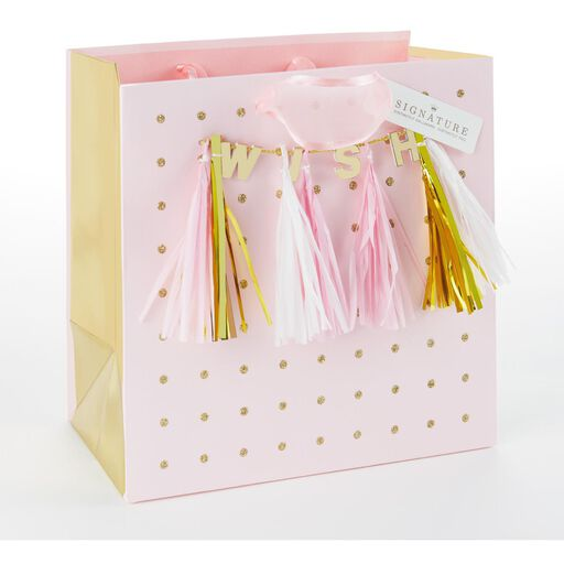 WISH Tassels Medium Square Gift Bag 775