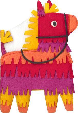 Felt Piñata Just Because Music Card