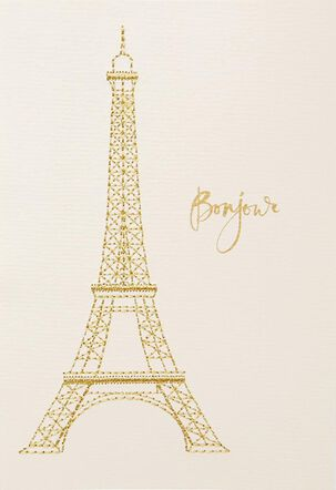 Chic Bonjour Blank Card