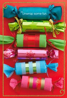 Wrapped Candies Christmas Card,