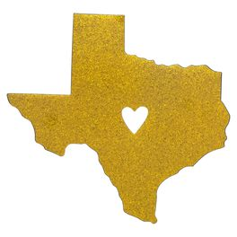Texas State Silhouette Car Magnet, , large