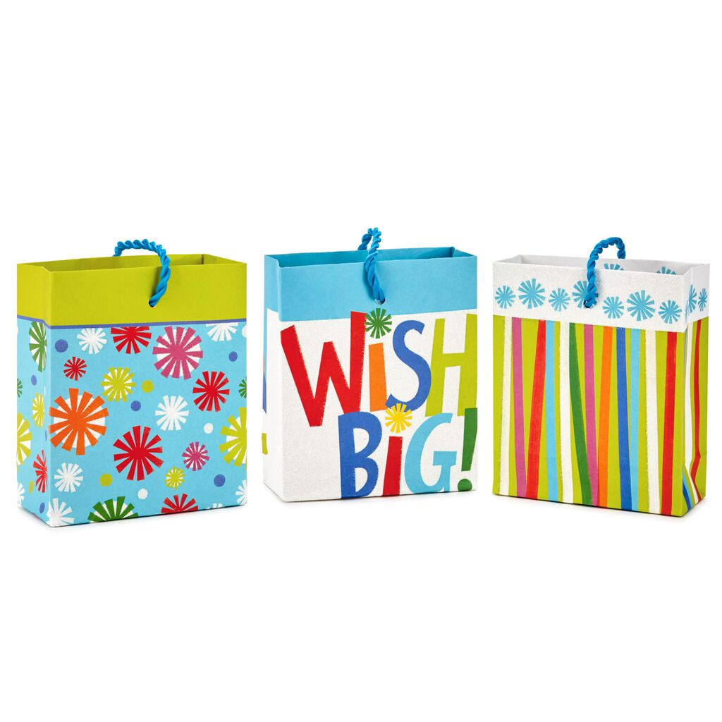 Assorted Birthday Wish Gift Card Holder Mini Bags Pack Of 3