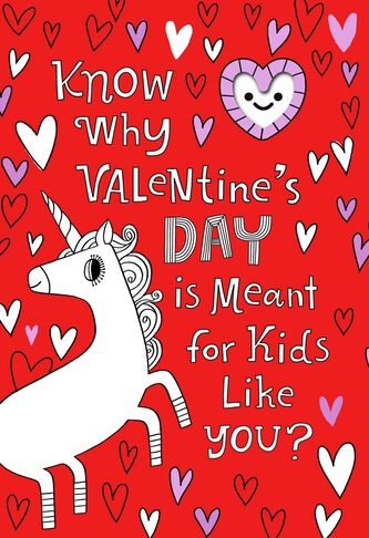 backpack clip valentines day card for child