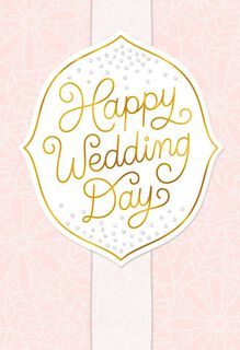 Pink Happy Wedding Day Congratulations,