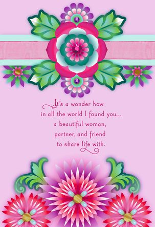 Catalina Estrada I Found You Floral Mother's Day Card for Wife