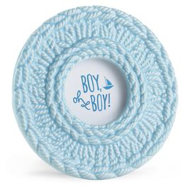 Boy Oh Boy Blue Crochet Picture Frame, , large