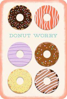 Donut Worry Blank Encouragement Card,