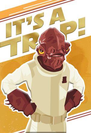 Star Wars™ Admiral Ackbar™ It's a Trap! Birthday Card
