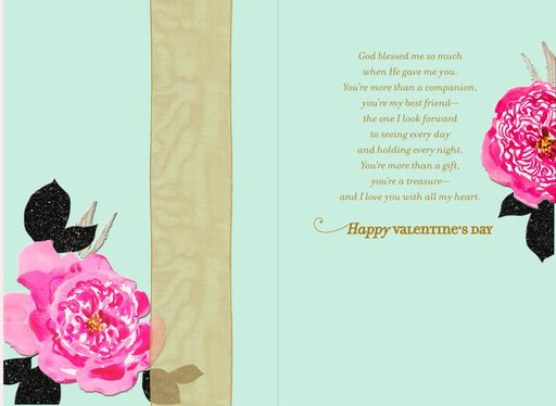 Our Beautiful Love Religious Valentine's Day Card,