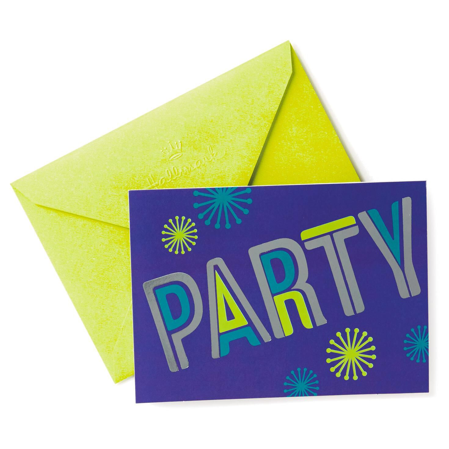 Shiny Disco Party Invitations Pack of 10 Invitations Hallmark – Packs of Party Invitations