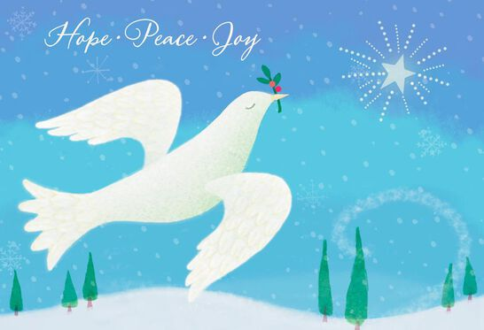 peace dove new year cards