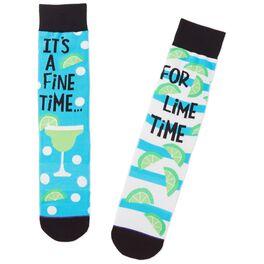 Fine Time for Lime Time Margarita Toe of a Kind Socks, , large