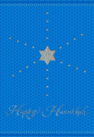 Glittering Star of David Hanukkah Card