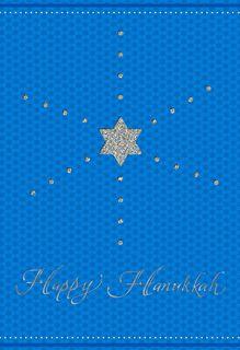 Glittering Star of David Hanukkah Card,