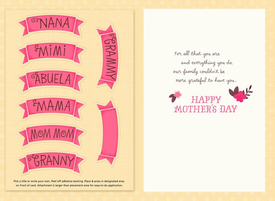 grateful for you personalized mother s day card for grandma