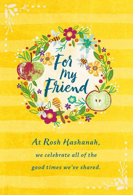 Fall wreath rosh hashanah card for friend greeting cards hallmark fall wreath rosh hashanah card for friend m4hsunfo