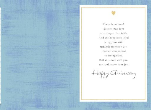 Gold Heart Anniversary Card for Husband,