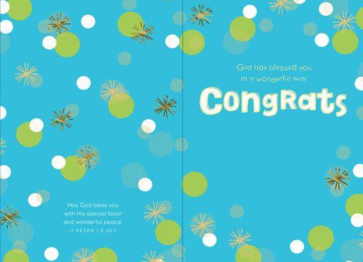 Wonderful Way Religious Congratulations Card,