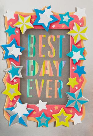 Best Day Ever Picture Frame Birthday Card