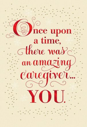 Once Upon a Time Christmas Card for Caregiver