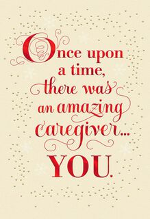 Once Upon a Time Christmas Card for Caregiver,