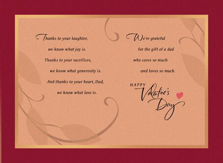 Dad Blessing Valentines Day Card Greeting Cards Hallmark – Valentines Card for Dad