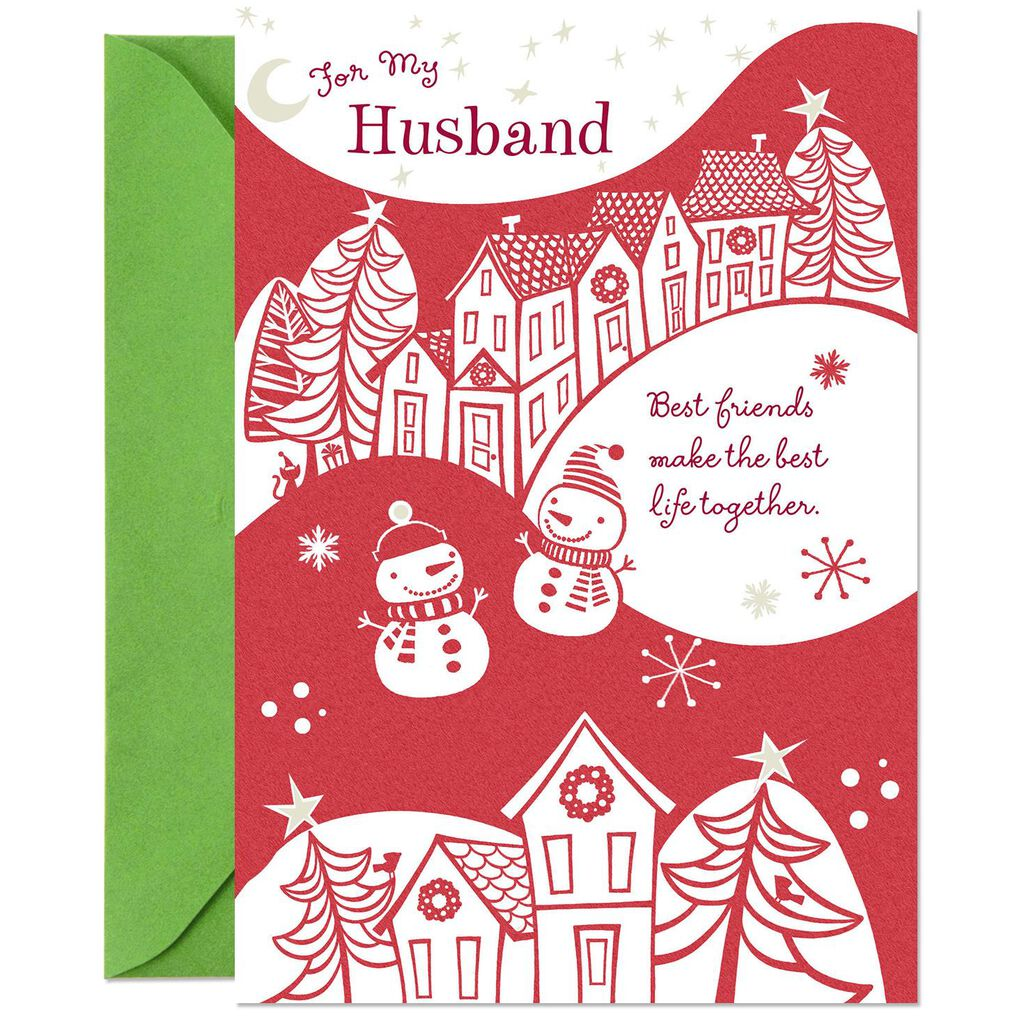 Best Friends, Best Life Christmas Card for Husband - Greeting Cards ...