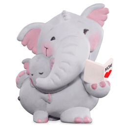 Elephant Mother and Child Figurine, , large