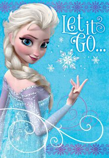 Frozen Elsa Let it Go Birthday Card,