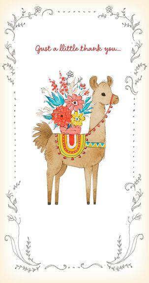 Llovely Llama Thank You Card
