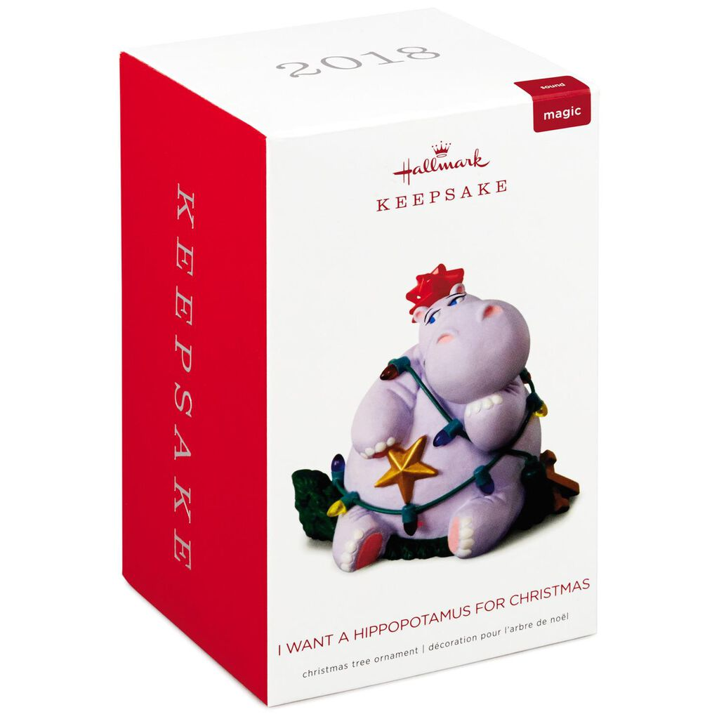 I Want a Hippopotamus for Christmas Musical Ornament - Keepsake ...