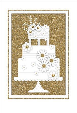 Vintage Cake Wedding Card